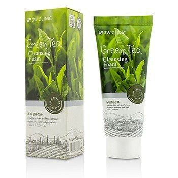 Image of 3W Clinic Cleansing Foam - Green Tea 100ml