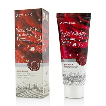 Image of 3W Clinic Cleansing Foam - Rose Water 100ml