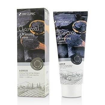 Image of 3W Clinic Cleansing Foam - Charcoal 100ml