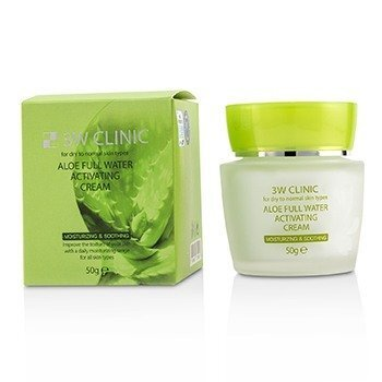 Image of 3W Clinic Aloe Full Water Activating Cream - For Dry to Normal Skin Ty