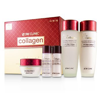 Image of 3W Clinic Collagen Skin Care Set: Softener 150ml + Emulsion 150ml + Cr